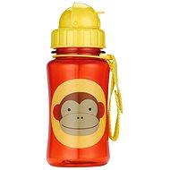 Skip hop Zoo Lahvička s brčkem - Opička - Láhev na pití pro děti