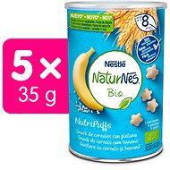NATURNES BIO NutriPuffs Banán 5× 35 g - Křupky pro děti
