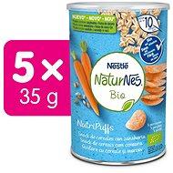 NATURNES BIO NutriPuffs Mrkev 5× 35 g - Křupky pro děti