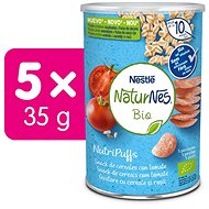 NATURNES BIO NutriPuffs Rajče 5× 35 g - Křupky pro děti