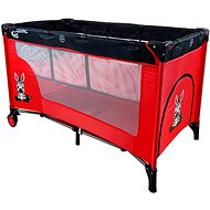 COSING ADAM with Adjustable Positions - Zebra Red - Travel Bed
