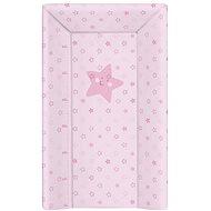 CEBA BABY Podložka měkká trojhranná - Hvězdy růžová - Přebalovací podložka