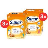 Sunar Complex 1 (3× 600 g), Sunar Complex 2 (3× 600 g) - Kojenecké mléko