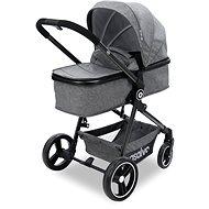 ASALVO CONVERTIBLE RISO Grey (2in1 + Car Seat) - Baby Buggy