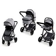 ASALVO CONVERTIBLE TWO+ Grey (2in1 + Car Seat) - Baby Buggy