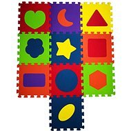 COSING EVA Puzzle podložka - Tvary (10 ks) - Hrací deka