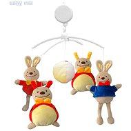 BABY MIX Plyšový kolotoč nad postýlku - Zajíčci a berušky