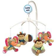 BABY MIX Plyšový kolotoč nad postýlku - Sloni a opice - Kolotoč nad postýlku