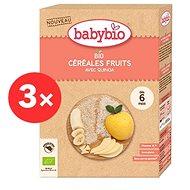 BABYBIO Dětská BIO kaše rýžová s quinoou ovocná 3× 200 g - Nemléčná kaše