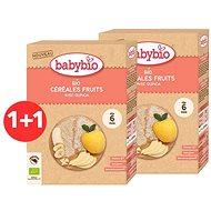 BABYBIO Dětská BIO kaše rýžová s quinoou ovocná 2× 200 g - Nemléčná kaše