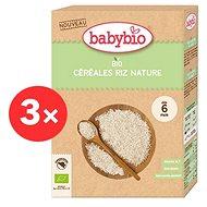 BABYBIO Dětská BIO kaše rýžová Natur 3× 200 g - Nemléčná kaše