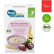 Freche Freunde BIO Kaše Švestka a banán 3× 200 g - Mléčná kaše