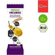 Freche Freunde BIO Ovocná tyčinka - Hruška, švestka a ostružina 12× 23 g - Sušenky pro děti