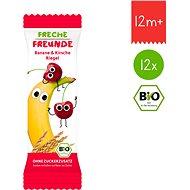 Freche Freunde BIO Ovocná tyčinka - Banán a třešeň 12× 23 g - Sušenky pro děti