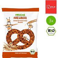 Freche Freunde BIO Špaldové preclíky s cizrnou 3× 75 g - Sušenky pro děti
