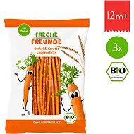 Freche Freunde BIO Špaldové tyčinky s mrkví 3× 75 g - Sušenky pro děti