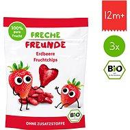 Freche Freunde BIO Ovocné chipsy - Jahoda 3× 12 g - Sušenky pro děti