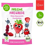 Freche Freunde Organic Fruit Chips - Forest Fruits Mix 3× 10g - Cookies for Kids