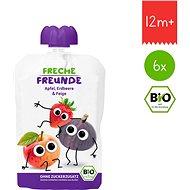 Freche Freunde BIO Jablko, jahoda a fík 6× 100 g - Příkrm