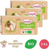 BABYBIO Sušenky s lískovými oříšky 3× 160 g - Sušenky pro děti