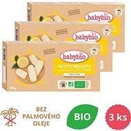 BABYBIO Biscuits with Lemon Essential Oil 3× 160g - Cookies for Kids