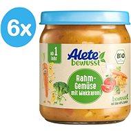 ALETE BIO Zelenina s makaróny a smetanou 6× 250 g - Příkrm