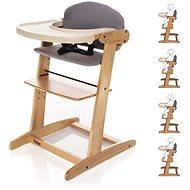 ZOPA Grow-up rostoucí židlička Natur/Grey - Jídelní židlička
