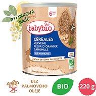 BABYBIO Bylinková obilná nemléčná BIO kaše s pomerančovým květem a heřmánkem 220 g - Nemléčná kaše
