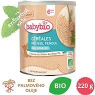 BABYBIO Bylinková obilná nemléčná BIO kaše s meduňkou a fenyklem 220 g - Nemléčná kaše