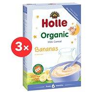 HOLLE BIO banánová Mléčná kaše 3× 250 g - Mléčná kaše