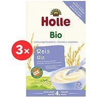 HOLLE BIO Rýžová kaše 3× 250 g - Nemléčná kaše
