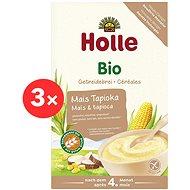 HOLLE BIO Kukuřičná kaše s tapiokou 3× 250 g - Nemléčná kaše