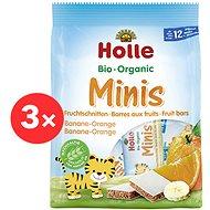 HOLLE Organické minis banánové s pomerančem 4× 100 g - Sušenky pro děti