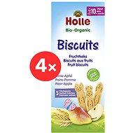 HOLLE Keksy jablko hruška 4× 125 g - Sušenky pro děti