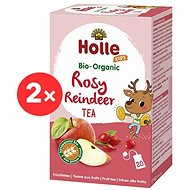 HOLLE Organic Fruit Rosy Reindeer tea with licorice 2 pcs - Children's Tea