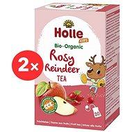 HOLLE Bio Ovocný Rosy Reindeer čaj s lékořicí  2× 30 g - Dětský čaj