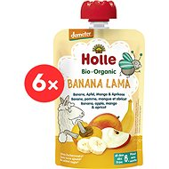 HOLLE Banana lama  BIO banán jablko man go merunka 6× 100 g