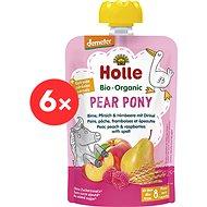 HOLLE Pear Pony BIO hruška broskev maliny a špalda 6× 100 g - Příkrm