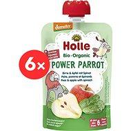 HOLLE Power Parrot  BIO pyré hruška  jablko a špenát 6× 100 g