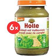 HOLLE BIO Brokolice s celozrnnou rýží 6× 190 g - Příkrm