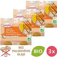 BABYBIO Mrkev s máslovou dýní, kuřetem a rýží 3× (2× 200 g) - Příkrm