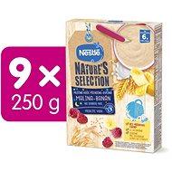 NESTLÉ Nature's Selection pšenično-ovesná kaše -  Malina Banán 9× 250 g - Mléčná kaše