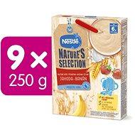 NESTLÉ Nature's Selection pšenično-ovesno-žitná kaše - Jahoda Banán 9× 250 g - Mléčná kaše
