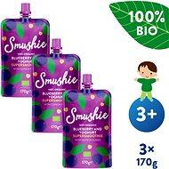SALVEST Smushie BIO Ovocné smoothie  s borůvkami, jogurtem a quinoou 3× 170 g