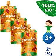 SALVEST Smushie BIO Ovocné smoothie s mangem, pomerančem a datlemi 3× 170 g