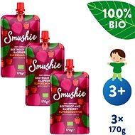 SALVEST Smushie BIO Ovocné smoothie s červenou řepou, malinami a konopnými semínky 3× 170 g