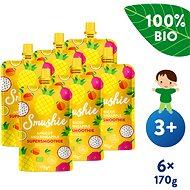 SALVEST Smushie BIO Ovocné smoothie s meruňkou, ananasem a lněnými semínky 6× 170 g