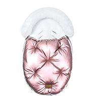 Floo for Baby  Alaska shine pink/white - Fusak do kočárku