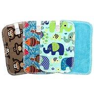 BREBERKY KLASIK (12× 18cm) - Boy's Cotton Knit and Baby Plush (Velour) - Napkins