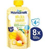 HAMÁNEK Hruška a banán 8× 100 g - Příkrm